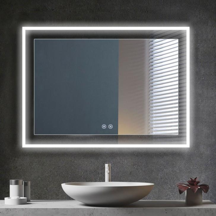 Decoraport 48 X 36 Inch Led Bathroom, 36 X 48 Bathroom Mirror