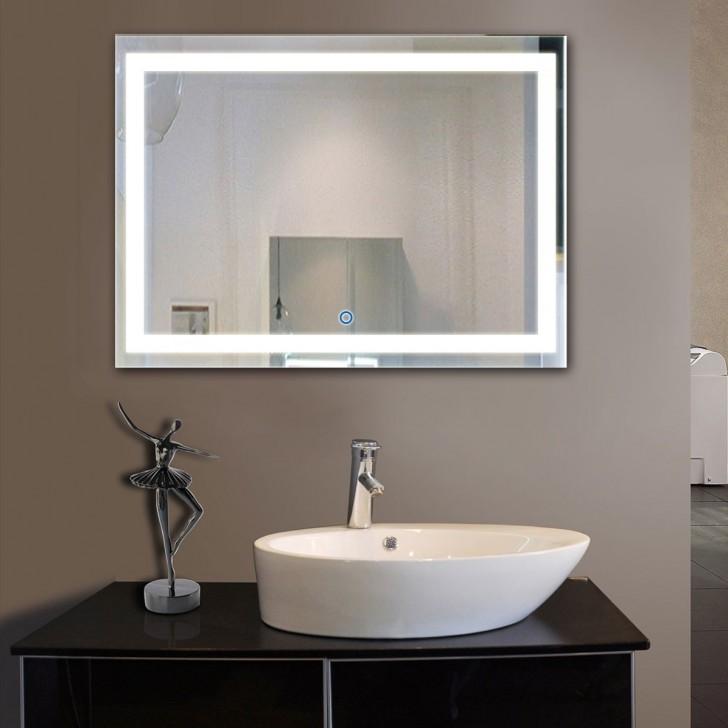 Horizontal Led Bathroom Mirror