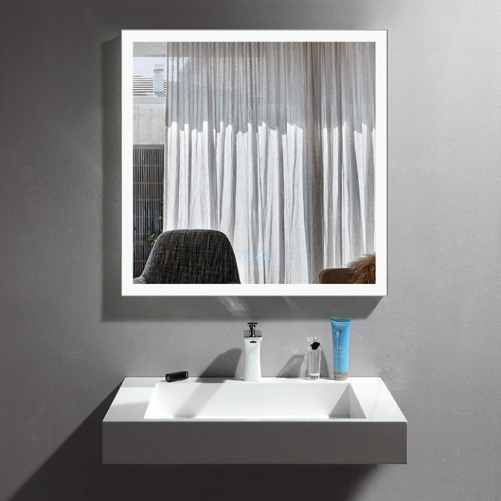promo code faf6f 3a74d 36 x 36 In Vertical Dimmable LED Bathroom Mirror with Anti-fog Function  (DK-OD-N031-DW)