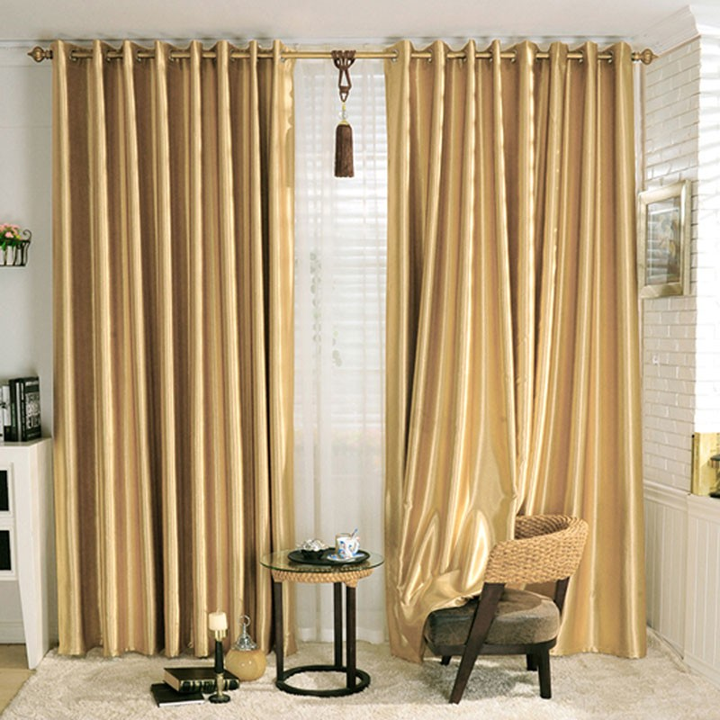 "Gold Blackout Grommet Curtain Panel, 42"" W X 84"" L (DK"