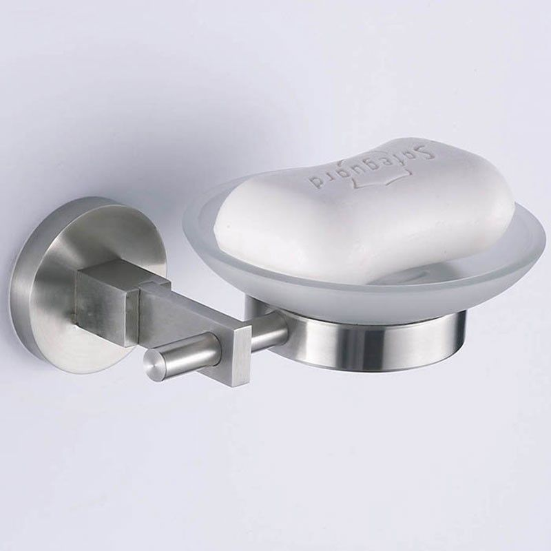 Wall-Mounted Soap Dish - Brushed Stainless Steel (30369)