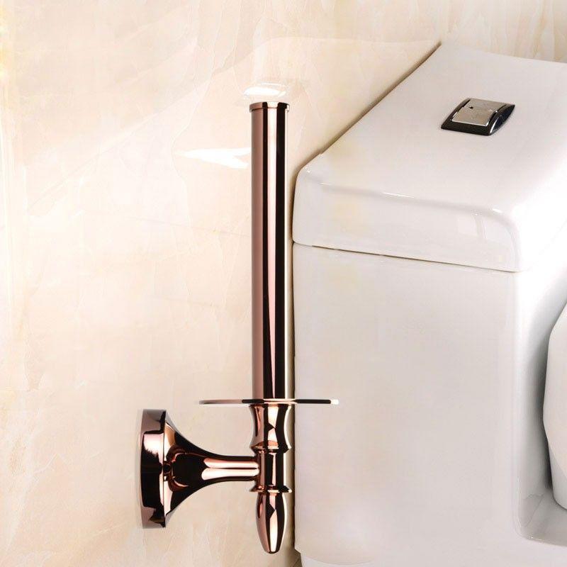 Rose Gold Brass Toilet Paper Holder (90351E)