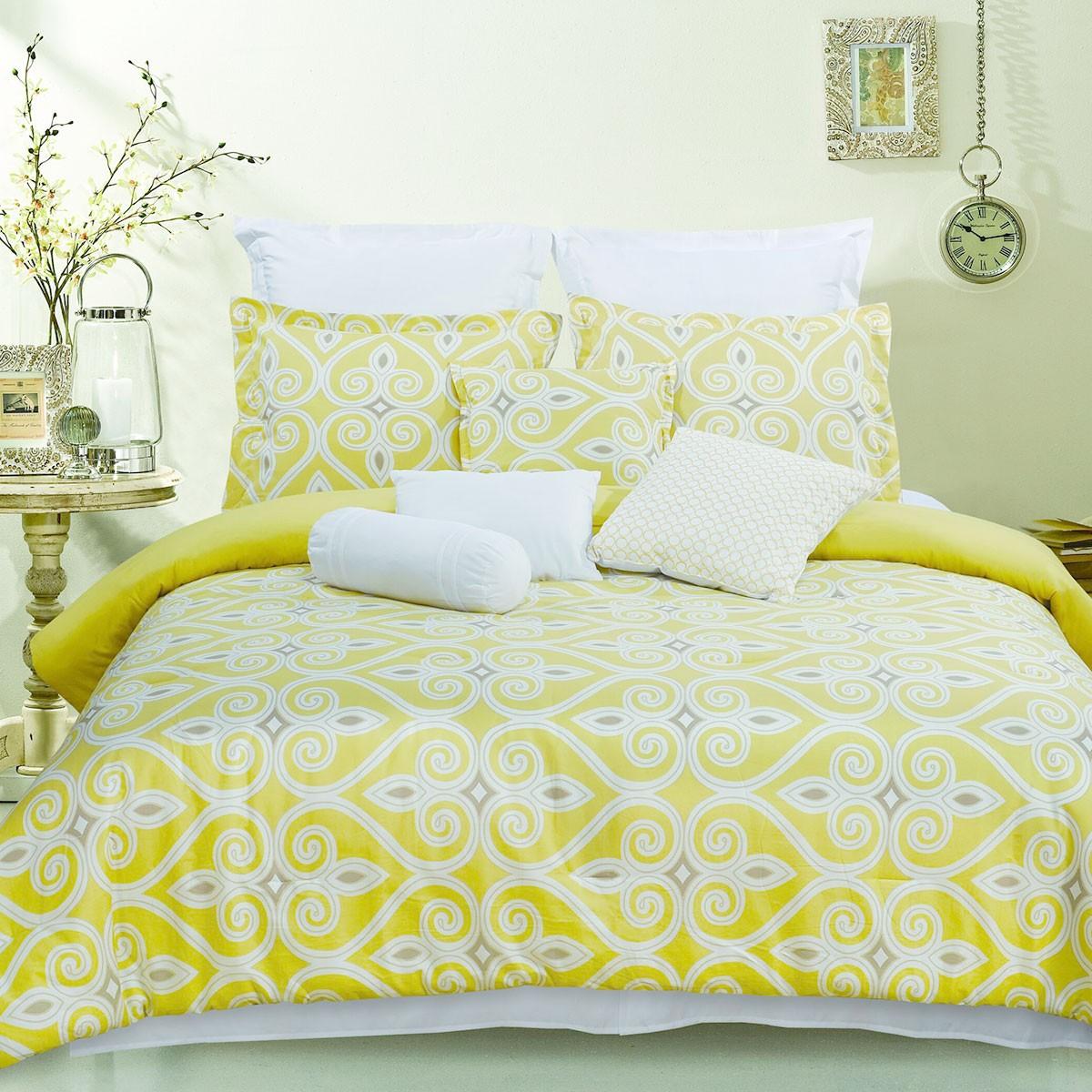 10-Piece Comforter Set in Yellow (DK-LJ001)