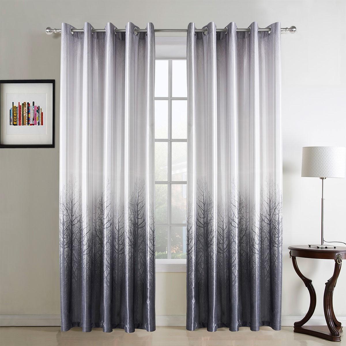 "Grey Grommet Curtain Panel, 42"" W x 84"" L (DK-GT002)"