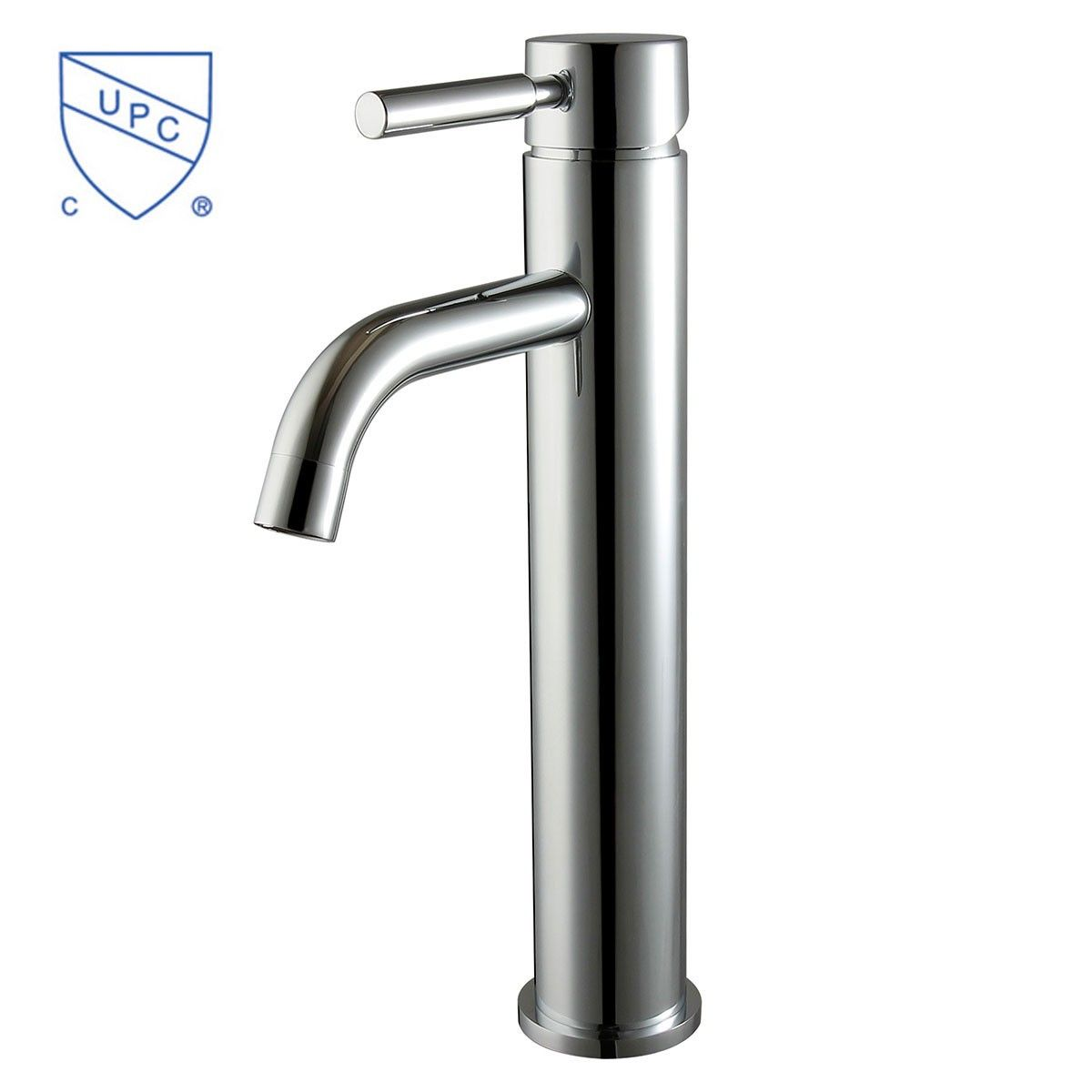 Above Counter Basin&Sink Faucet - Single Hole Single Lever - Brass with Chrome Finish (5920)