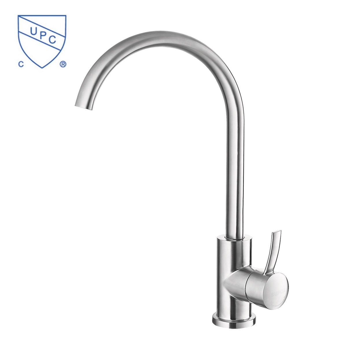 SUPOR Modern Style Stainless Steel Lead Free Kitchen Faucet (250807 01 LS)    Decoraport USA