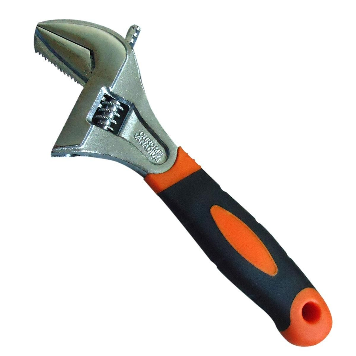 Extra Wide Opening Capacity Adjustable Wrench,  8 Inch (WB-53D-8)