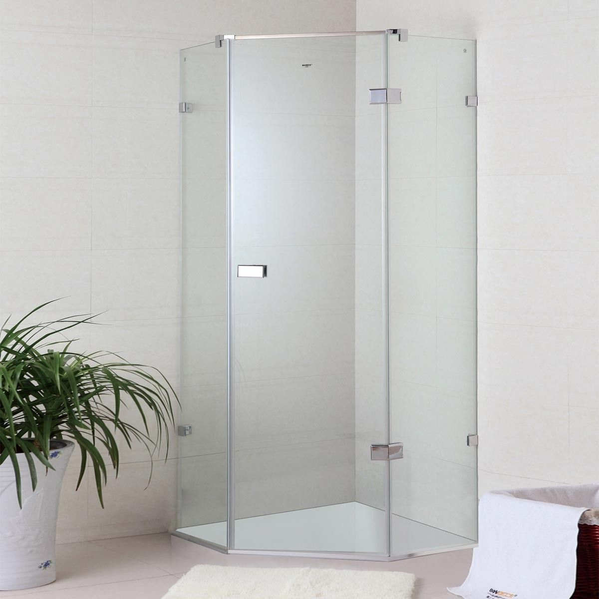 36 x 36 In. (90 x 90 cm) Clear Tempered Glass Coner Shower Stall  (WA-03)