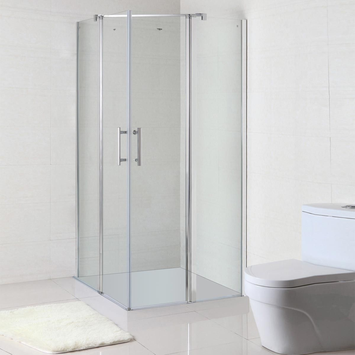 36 x 36 In. (90 x 90 cm) Clear Tempered Glass Shower Enclosure (WB-06)