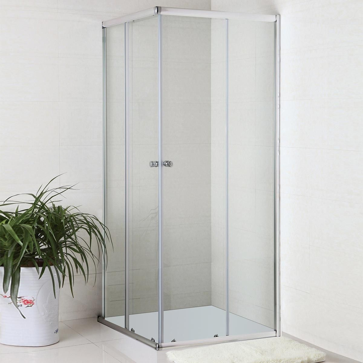 36 x 36 In. (90 x 90 cm) Clear Tempered Glass Shower Enclosure (WE-08)