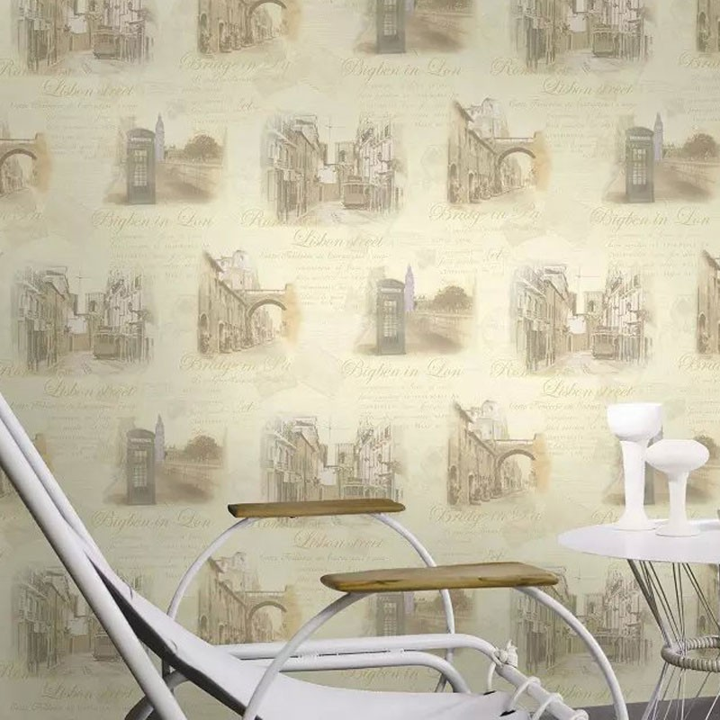 PVC 3D Scenic Pattern Room Wallpaper, 57 sq.ft/Roll (DK-SE451202)