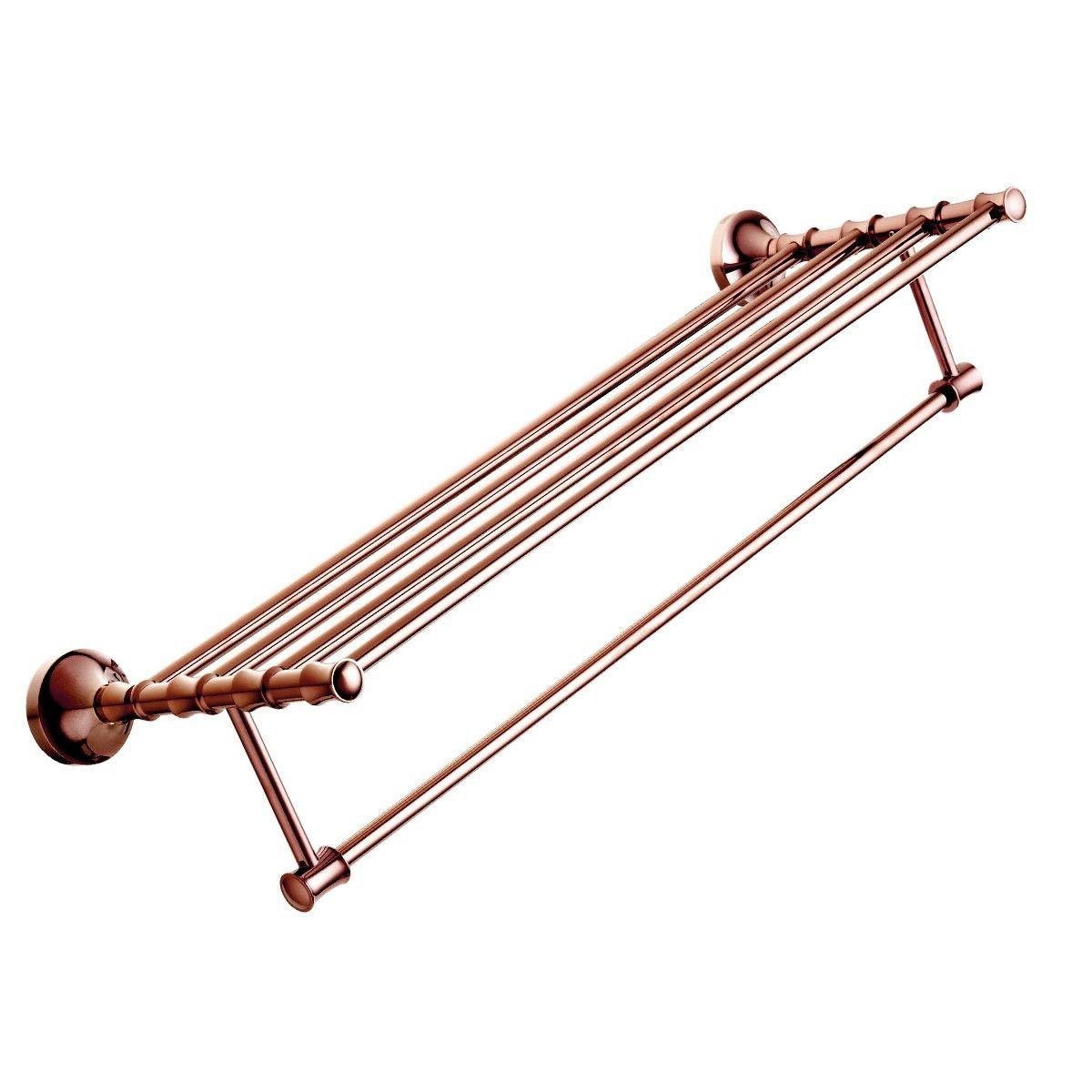 Rose Gold Brass Towel Shelf (90300E)