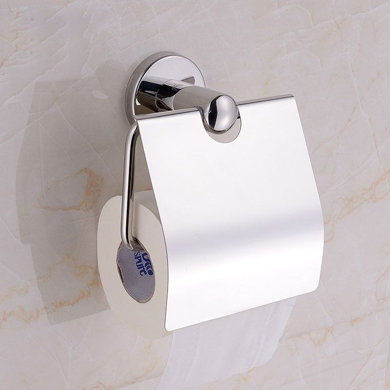 Chrome Brass Toilet Paper Holder (80751)