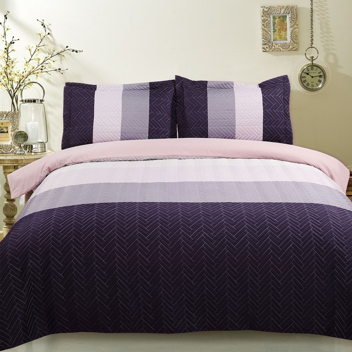 3-Piece Purple Duvet Cover Set (DK-LJ007)