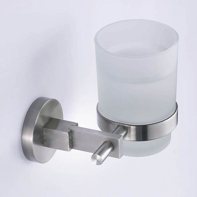 Round Wall-Mounted Tumbler Holder - Brushed Stainless Steel(30358)