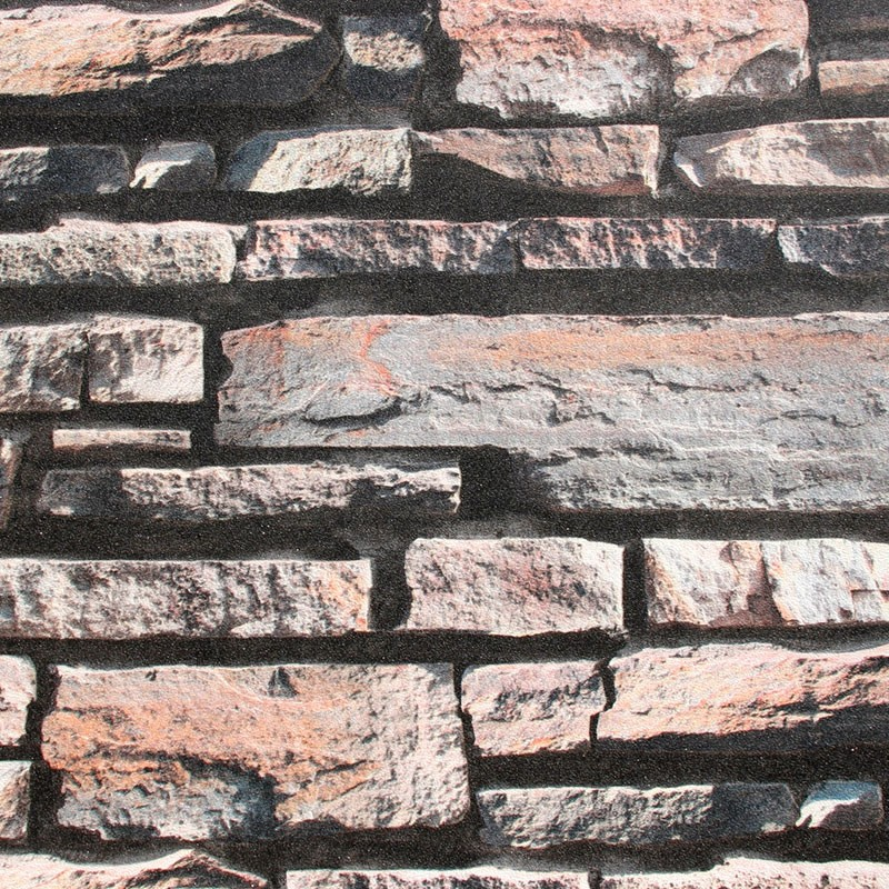 3D Rustic Stonewall Wallpaper  (DK-SE452002)