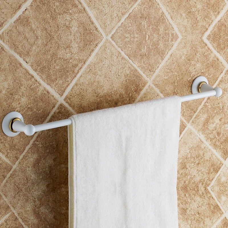 White Painting Brass Towel Bar (80324D)