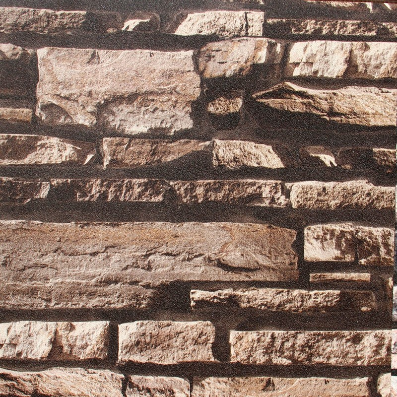 3D Rustic Stonewall Wallpaper, 57 sq.ft/Roll (DK-SE452003)