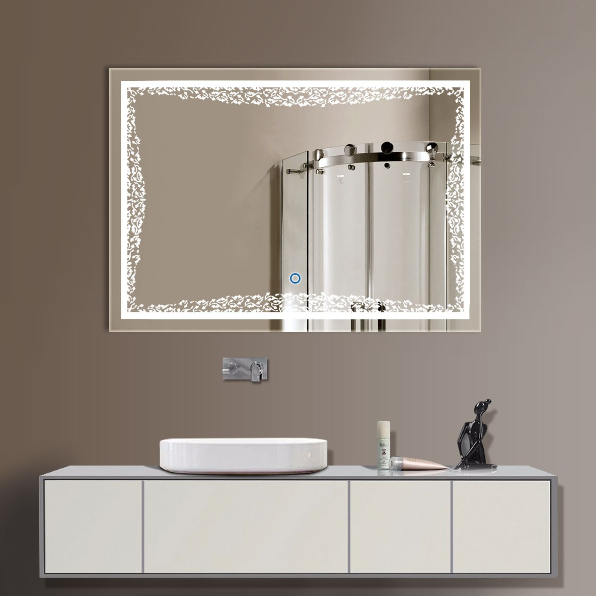32 x 24 In Horizontal LED Bathroom Mirror, Touch Button (DK-OD-N011)