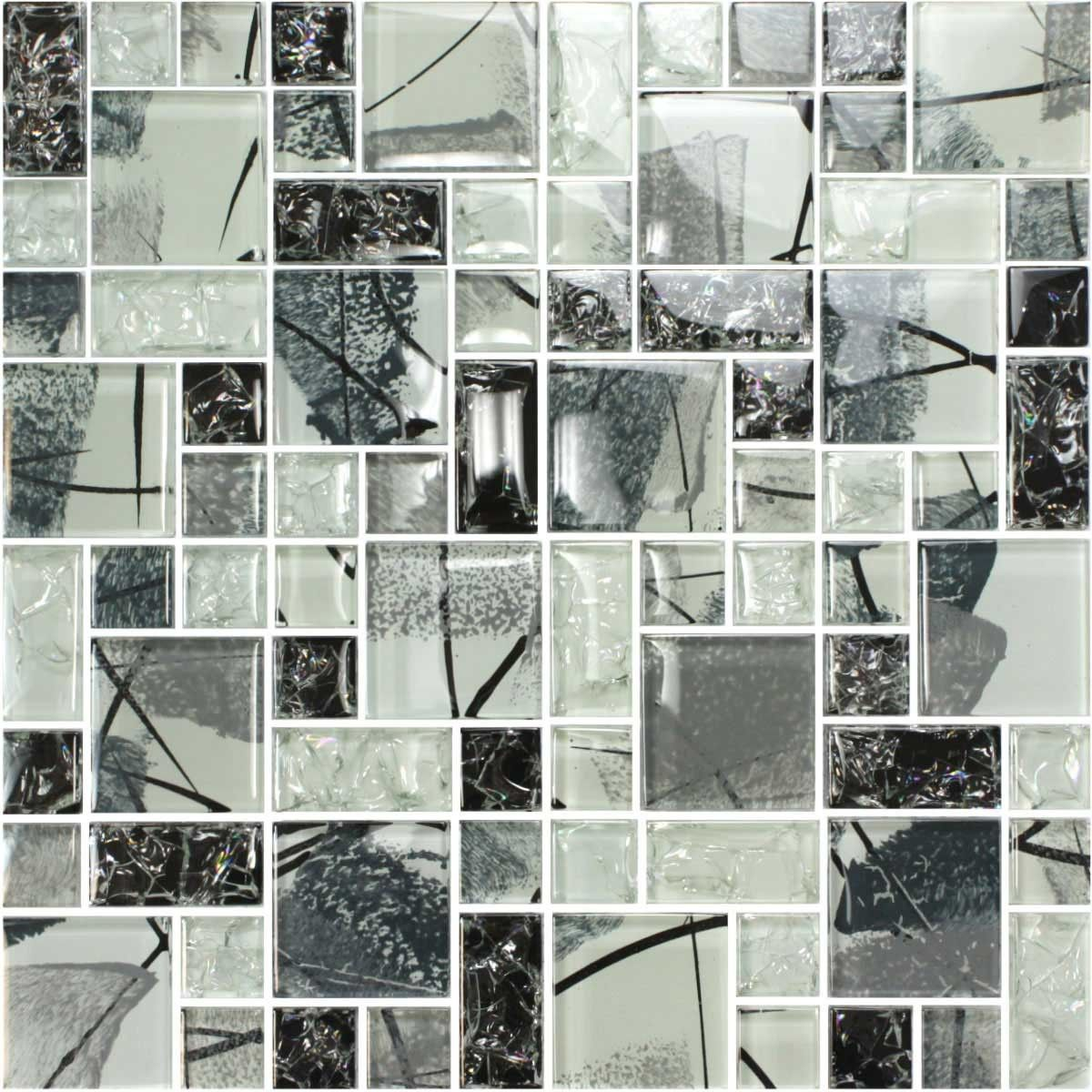 12 in. x 12 in. Electroplated Glass Mosaic Tile - 8mm Thickness (DS001C)