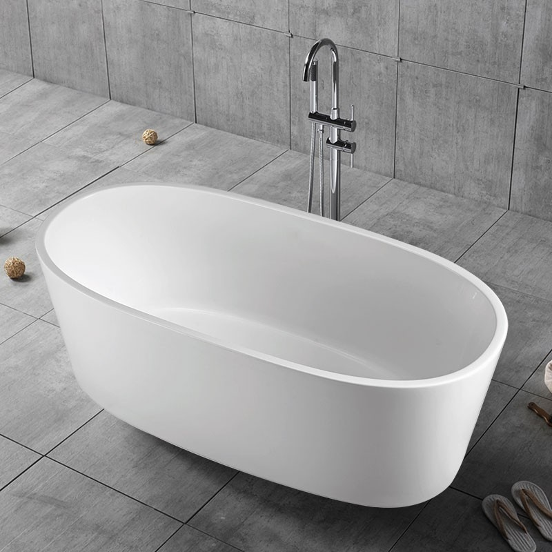 63 In Pure White Acrylic Freestanding Bathtub (DK-PW-16678)