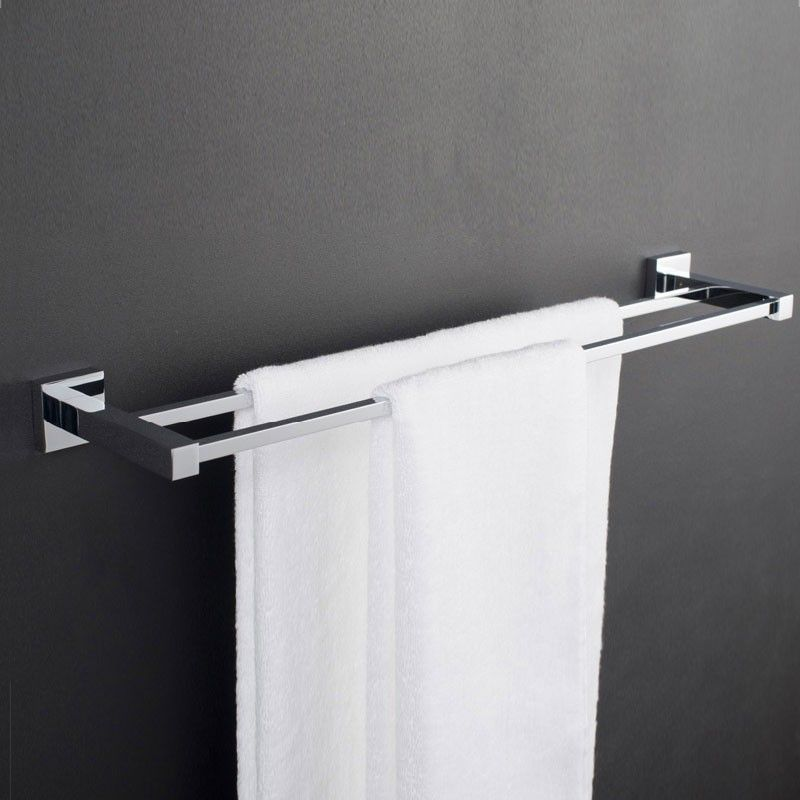 Double Towel Bar 24 Inch - Chrome Brass (80848)