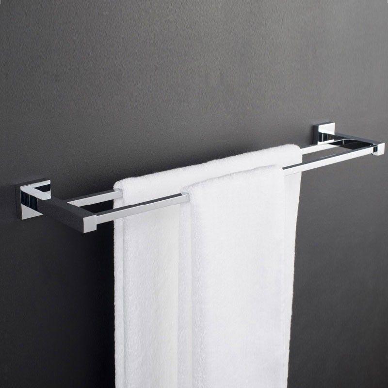 Double Towel Bar 24 Inch - Chrome Brass (80848)