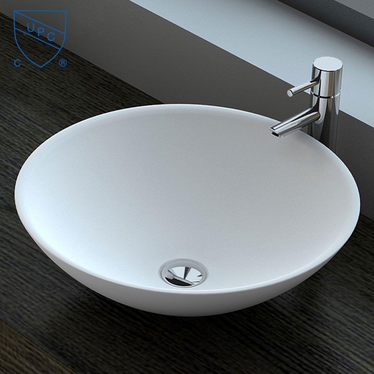 Decoraport White Round Ceramic Above Counter Basin (CL-1030)