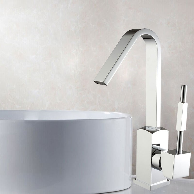 Basin&Sink Faucet - Brass with Chrome Finish (6212)