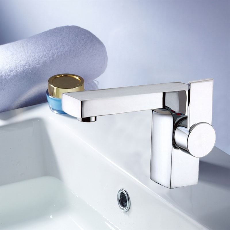 Decoraport Modern Style Basin&Sink Faucet - Brass with Chrome Finish (6053CH)