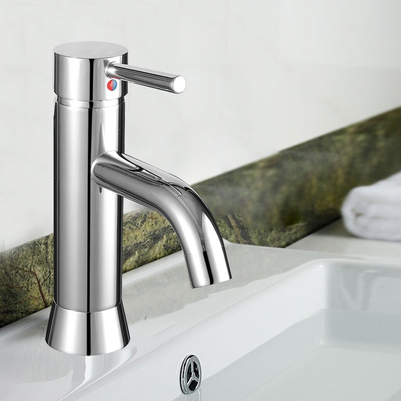 Decoraport Modern Style Basin&Sink Faucet - Brass with Chrome Finish (YDL-5921)