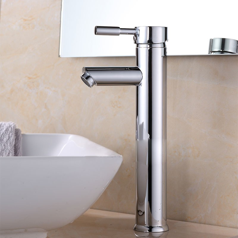 Decoraport Modern Style Basin&Sink Faucet - Brass with Chrome Finish (5520G)