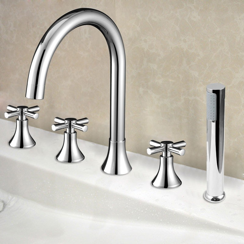 Decoraport Modern Style 5-piece Brass Bathtub Faucet (YDL-2506A)