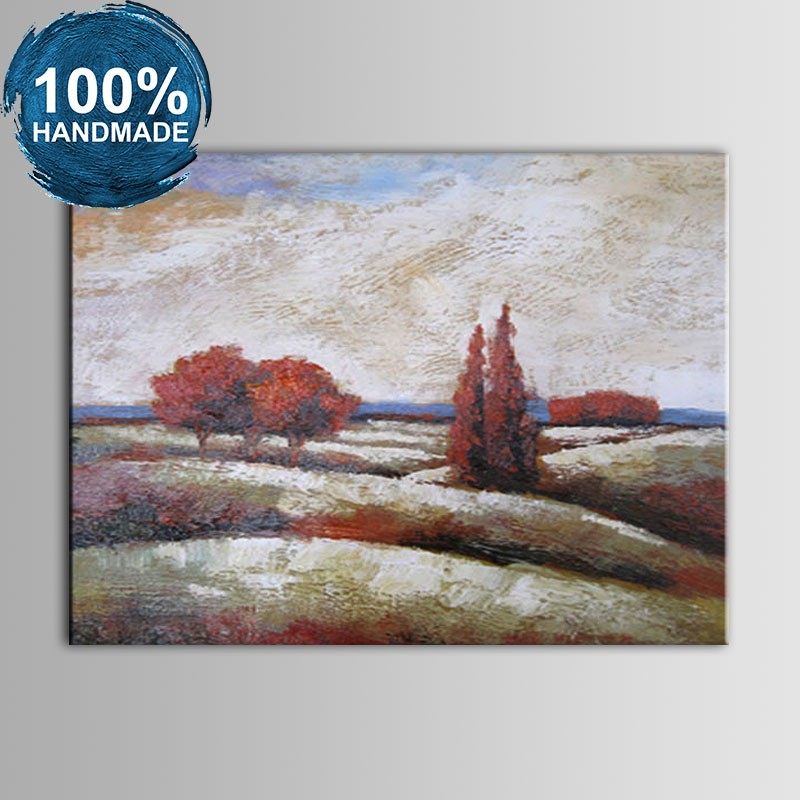 100% Hand Painted Abstract Landscape Oil Painting (DK-JX-YH01)