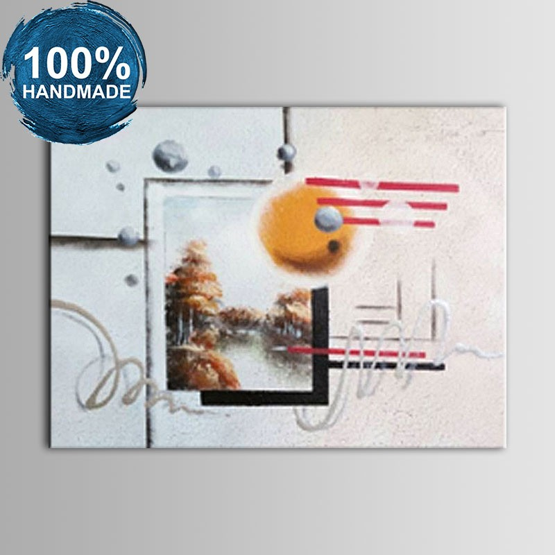 100% Hand Painted Abstract Oil Painting (DK-JX-YH02)