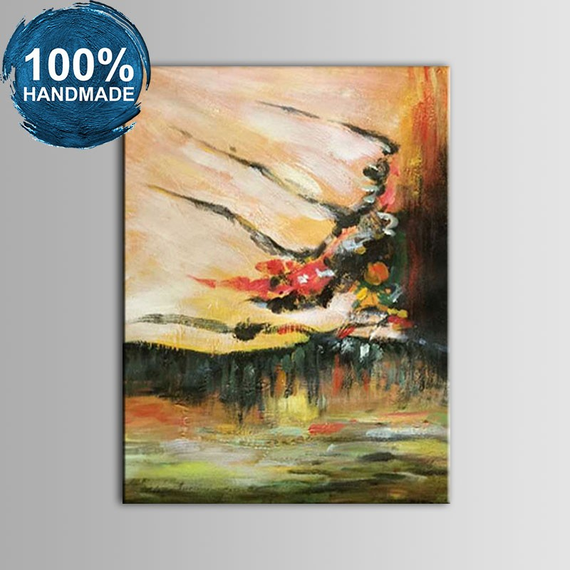100% Hand Painted Abstract Oil Painting(DK-JX-YH09)
