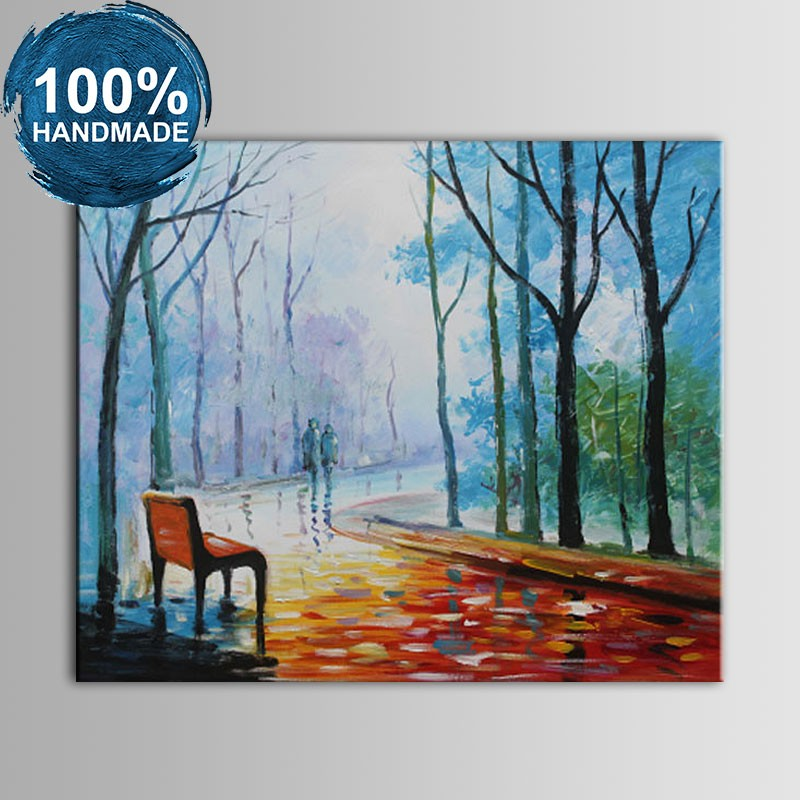 100% Hand Painted Abstract Landscape Knife Painting (DK-JX-YH015)
