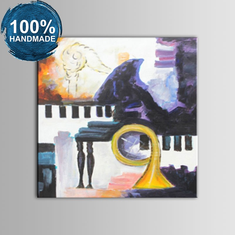 100% Hand Painted Abstract Still-Life Oil Painting (DK-JX-YH024)