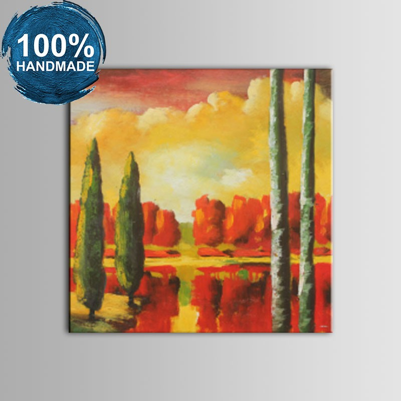 100% Hand Painted Abstract Landscape Oil Painting (DK-JX-YH057)