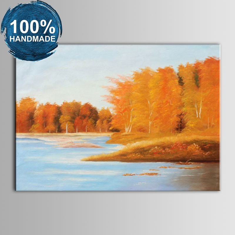 100% Hand Painted Abstract Landscape Oil Painting (DK-JX-YH052)