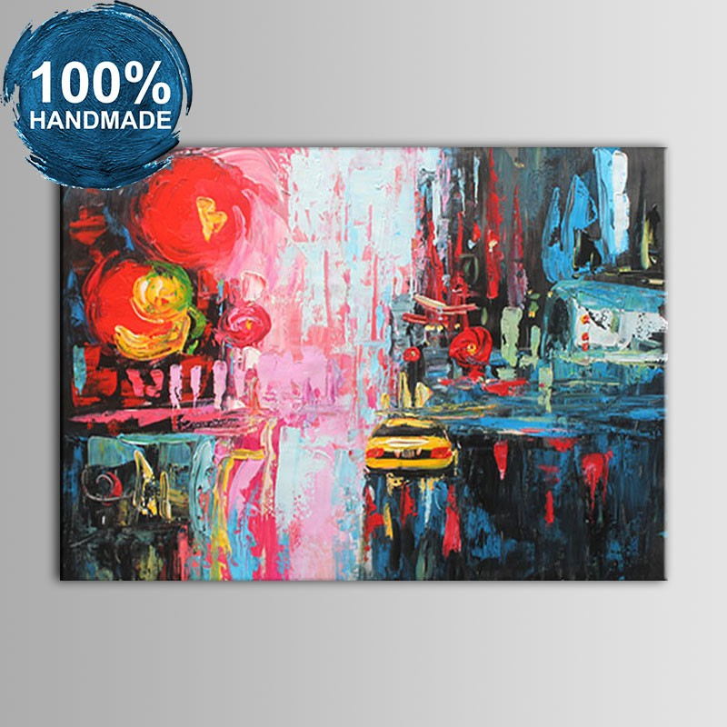 100% Hand Painted Abstract Knife Painting (DK-JX-YH021)