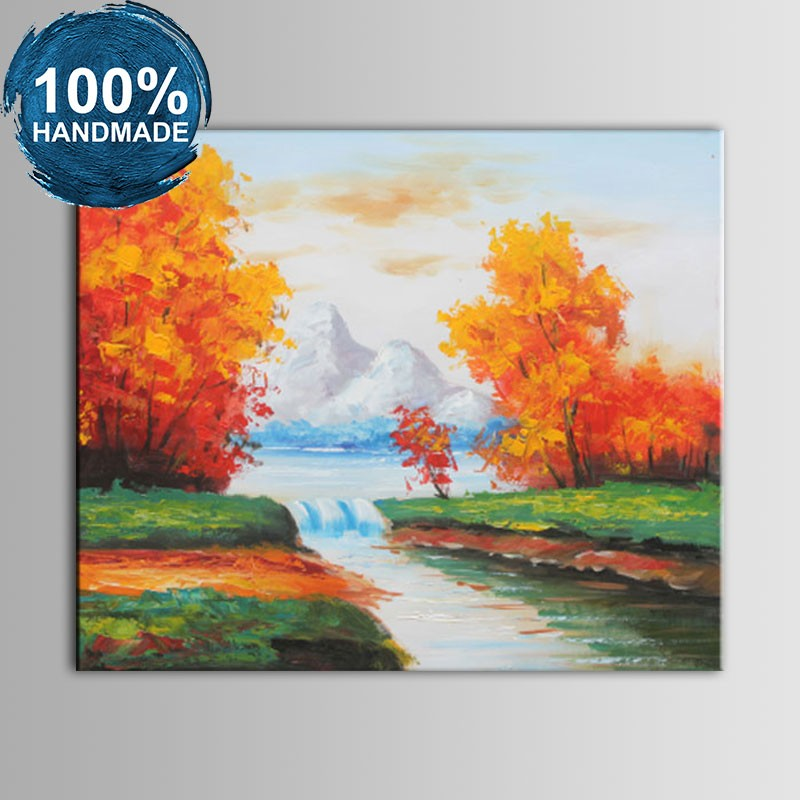 100% Hand Painted Abstract Landscape Oil Painting (DK-JX-YH050)