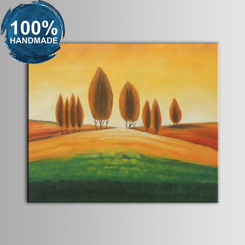 100% Hand Painted Abstract Landscape Oil Painting (DK-JX-YH049)