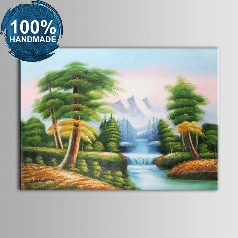 100% Hand Painted Realistic Landscape Oil Painting (DK-JX-YH063)
