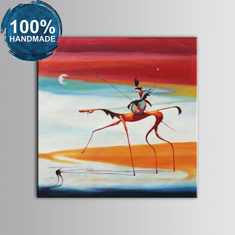100% Hand Painted Abstract Animal Oil Painting (DK-JX-YH023)