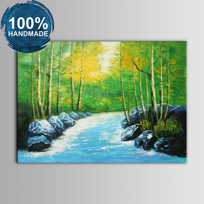 100% Hand Painted Realistic Landscape Oil Painting (DK-JX-YH062)