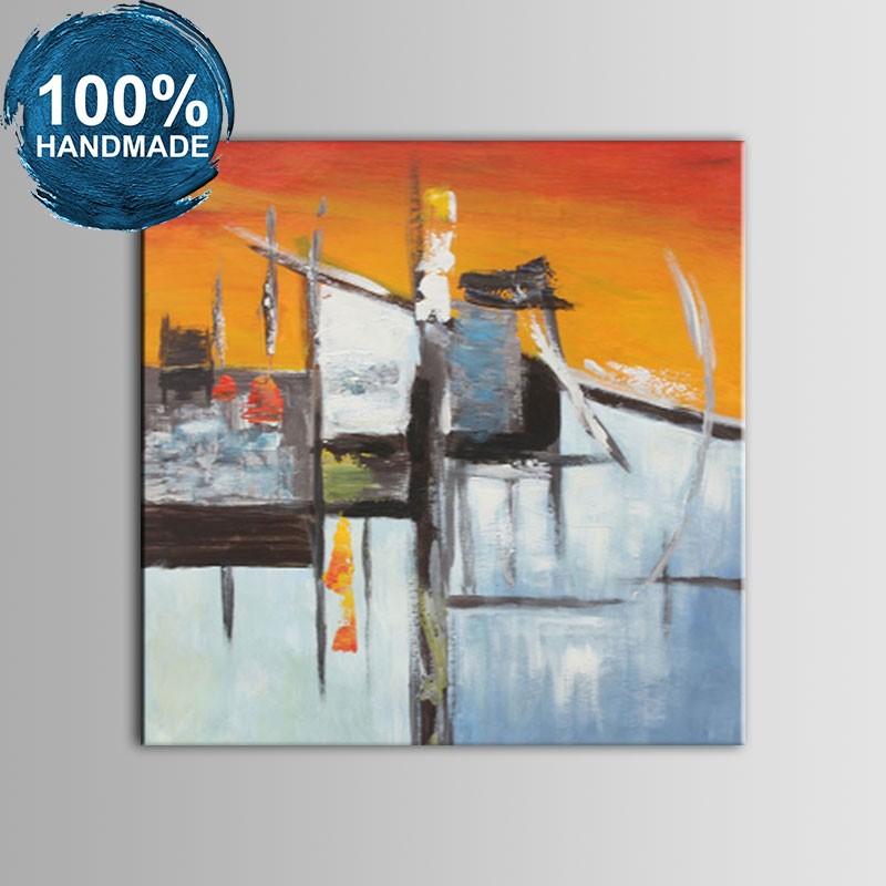 100% Hand Painted Abstract Oil Painting (DK-JX-YH05)
