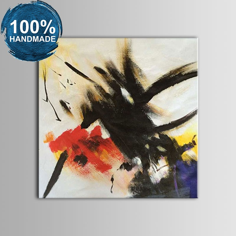 100% Hand Painted Abstract Oil Painting (DK-JX-YH08)