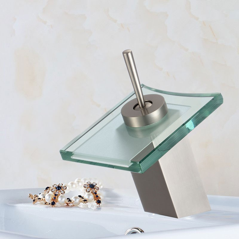 Basin&Sink Waterfall Faucet - Brass in Brushed Nickel (84H02-BN)