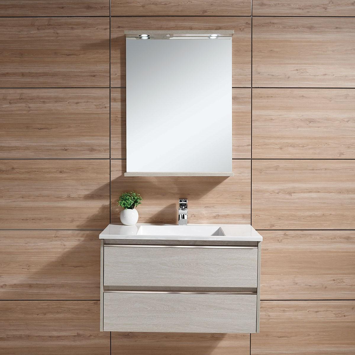 31 In. Wall-Mount Bathroom Vanity Set with Mirror (DK-603800)